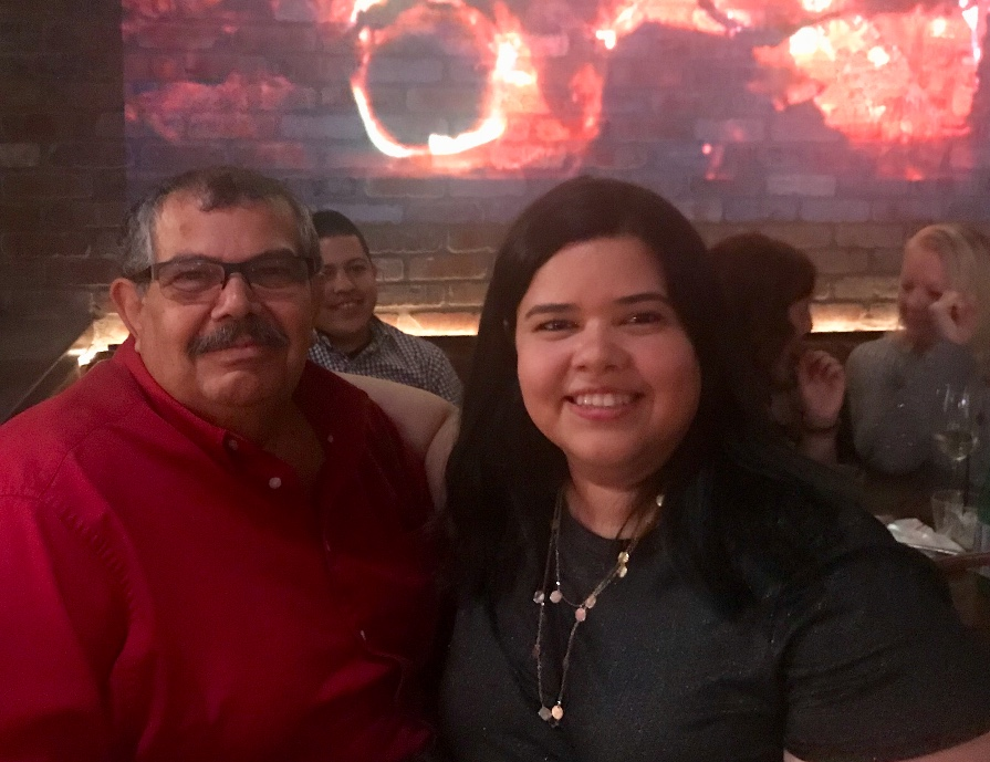 Quetxy Pagan, Long-Term Care Planning Assistant and her father