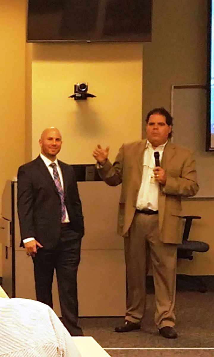 Dr. Ernesto Triana introduces Attorney Jonathan Karp