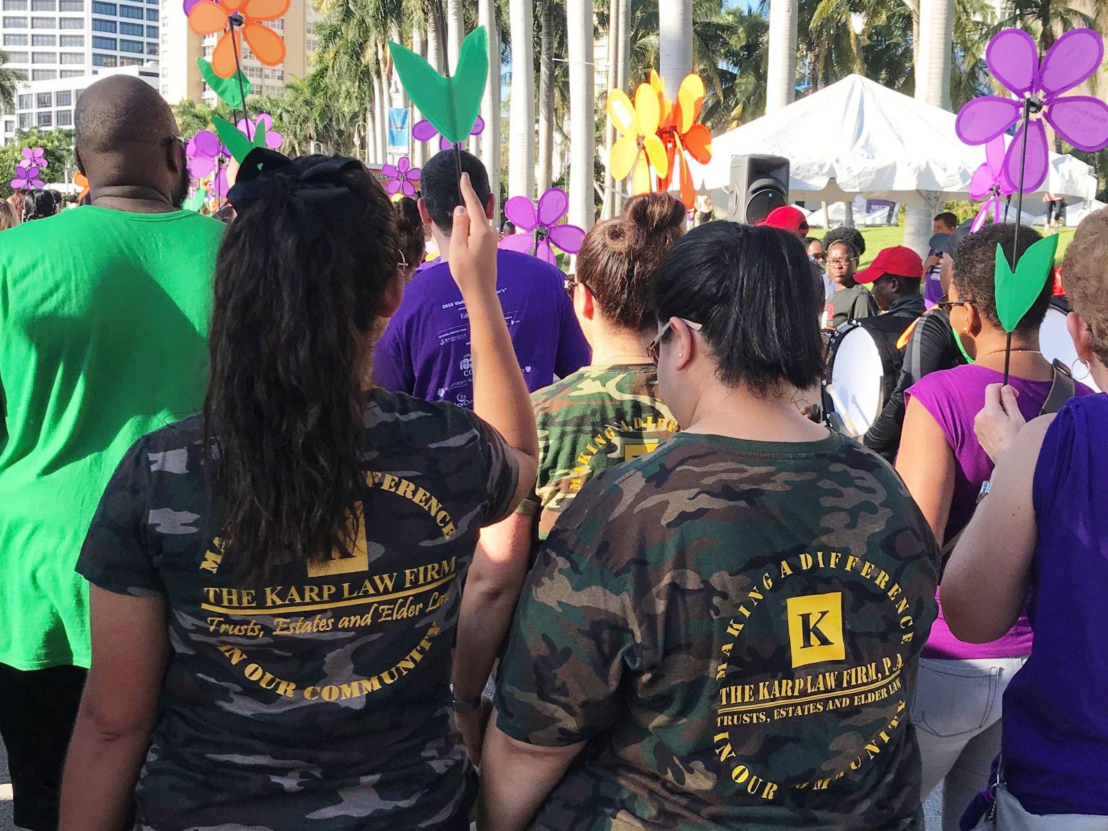 Karp's Kommandos walk down Flagler Drive in West Palm Beach