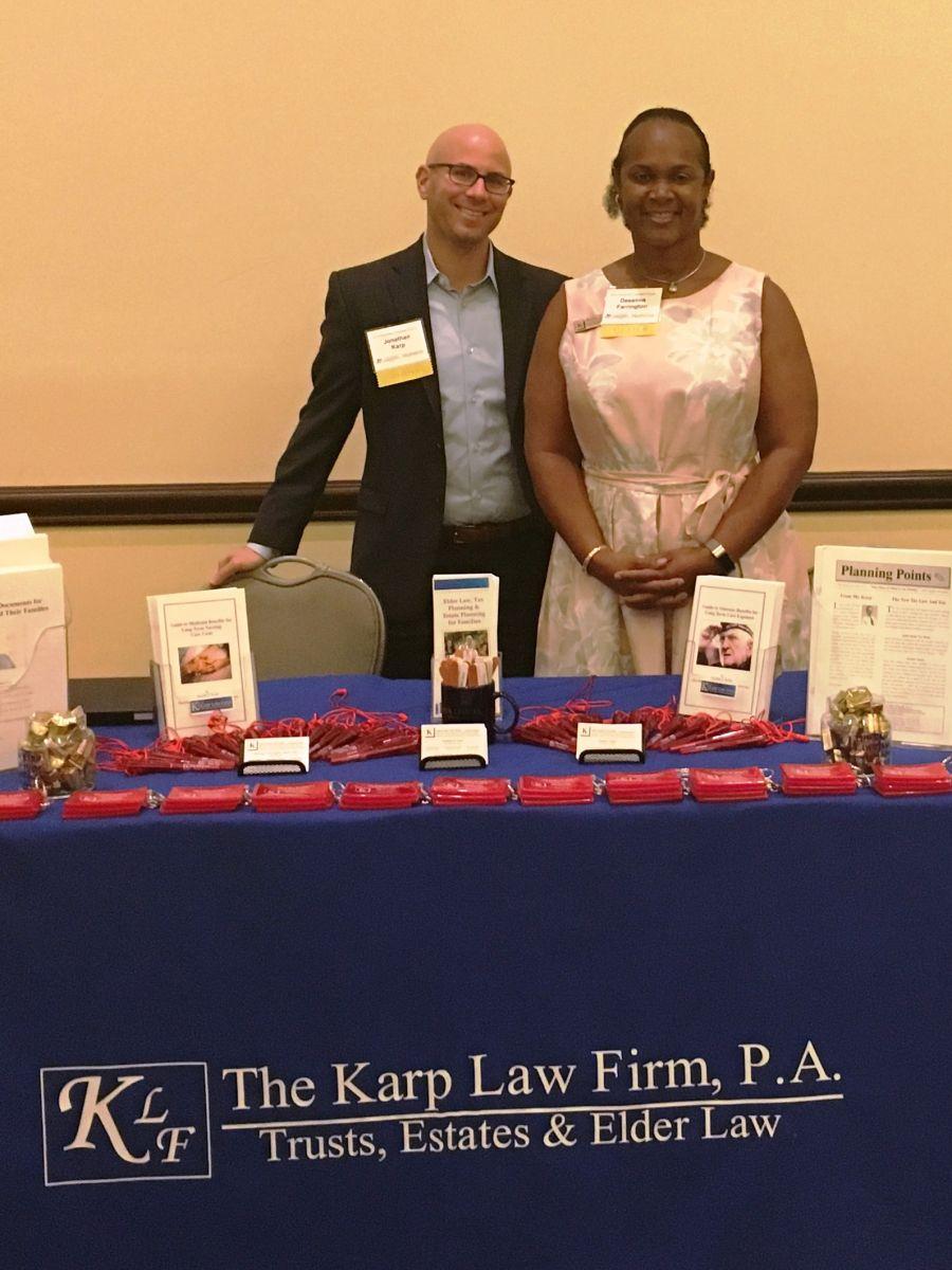 Karp Law Firm Attorney Jonathan Karp and Case Manager Supervisor Deeanna Farrington