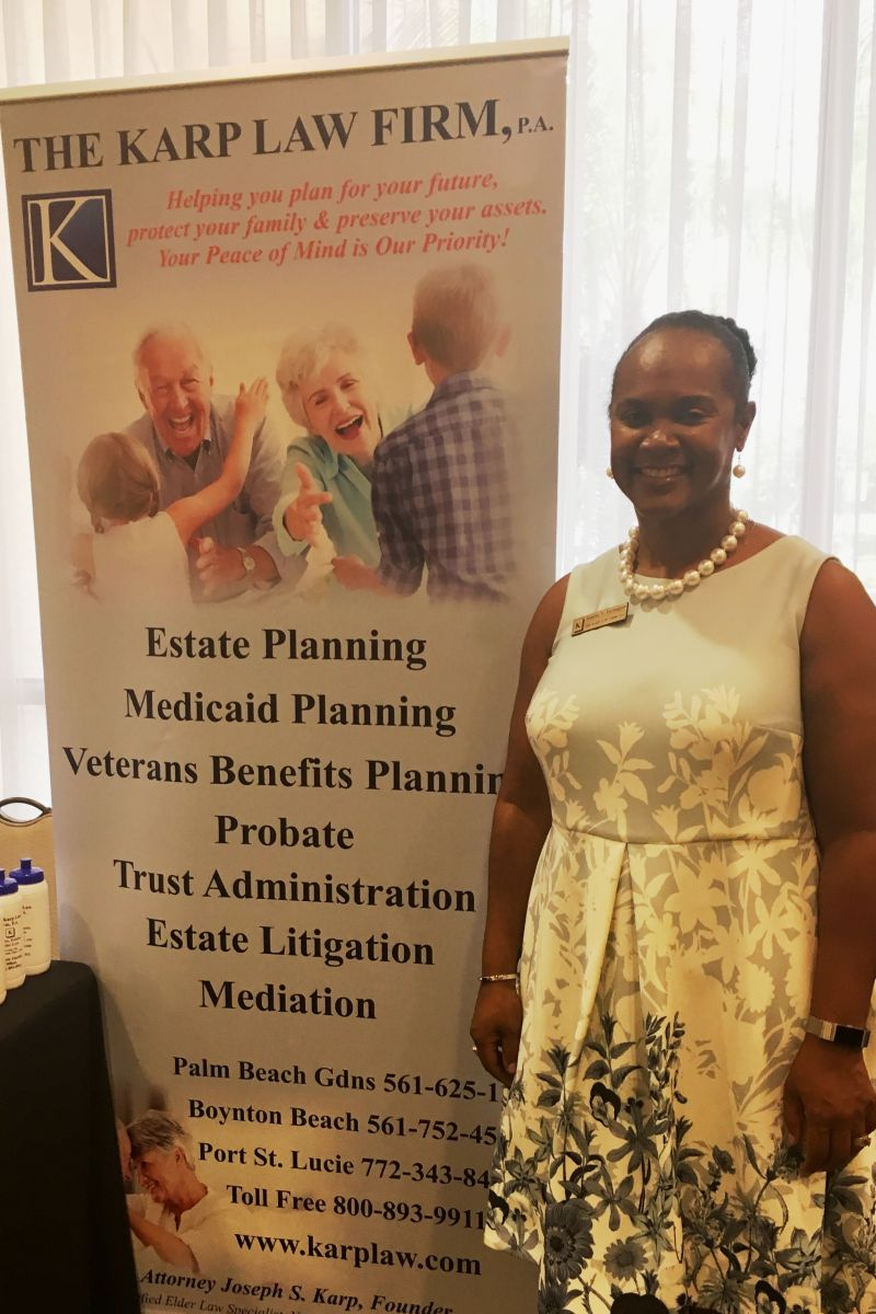 Karp Law Firm Case Manager Deeanna Farrington was on hand to answer questions from attendees