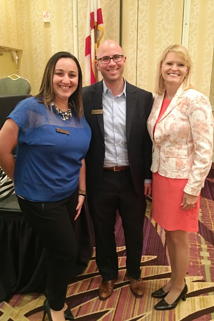 L-R: Karp Law Firm Assistant Case Manager Zamara Rosete; Attorney Jonathan Karp; Tamela Alldredge of Palm Beach Care Management at the awards breakfast