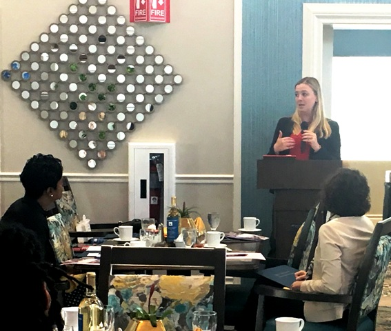 At HarborChase in Palm Beach Gardens, Attorney Jacqueline Bain tells attendees what they need to know about HIPAA and the Florida Information Protection Act